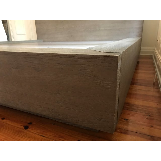 Contemporary Van Thiels for Restoration Hardware Oak King Machinto Bed For Sale - Image 3 of 11