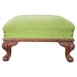 Early 20th Century Antique Neoclassical Inspired Victorian Ottoman For Sale