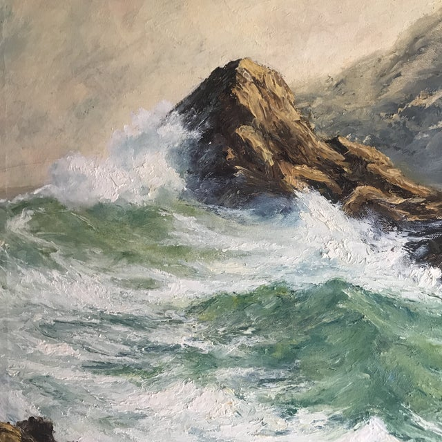 Breaking Waves, by Richard Lazendorf (German born 1864).