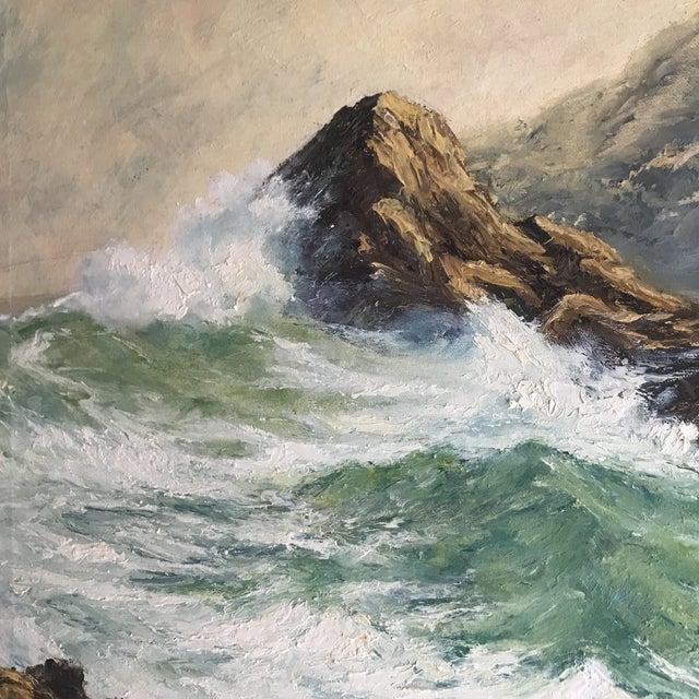 Breaking Waves, by Richard Lazendorf (German born 1864).