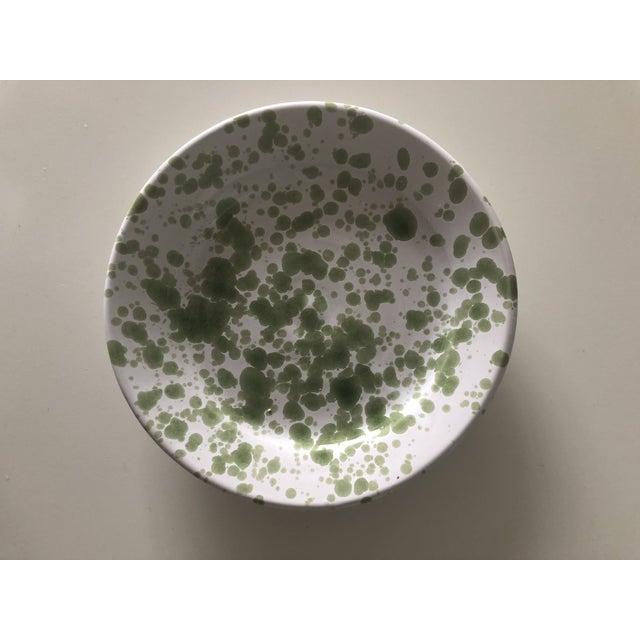 Penny Morrison Green Speckled Ceramic Plates - a Pair For Sale - Image 4 of 7