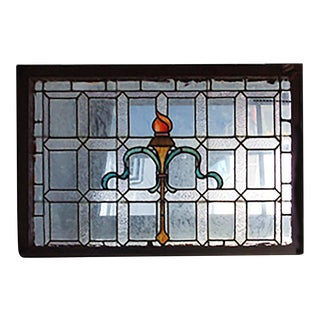 1905 Beaux Arts Style Stained Glass Widow For Sale