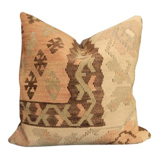 """Old Turkish Tribal Kilim Pillow Cover 20"""" W For Sale"""