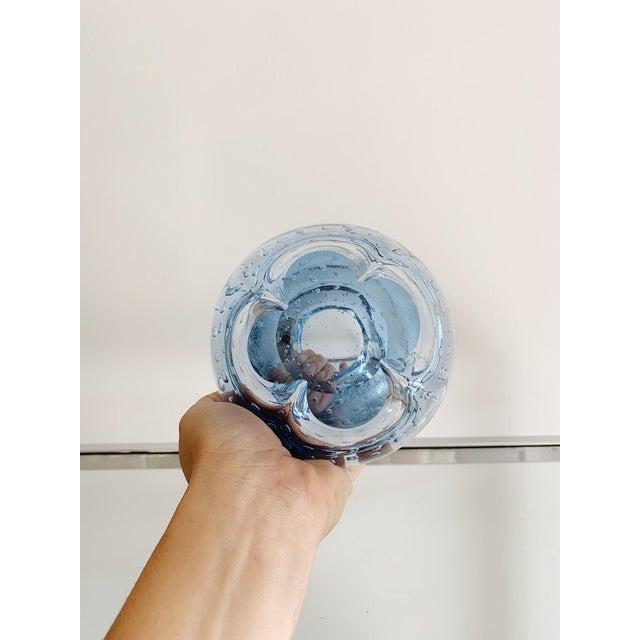 Murano 1960s Murano Blue Bubble Ashtray For Sale - Image 4 of 4