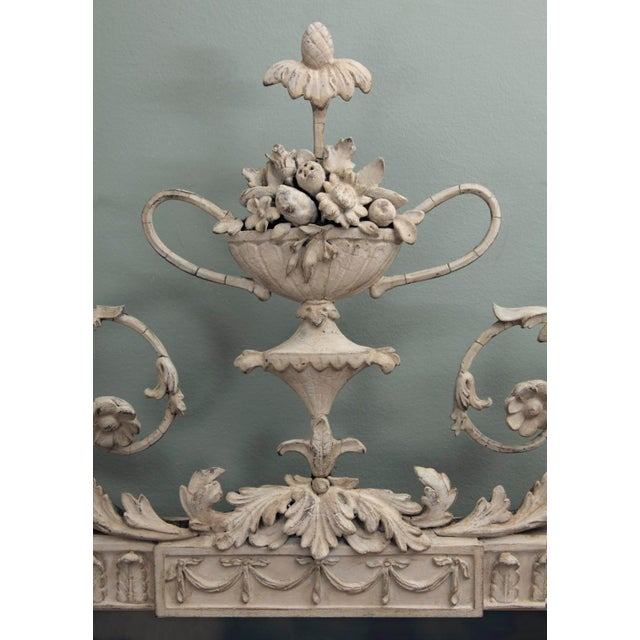 Antique English Neoclassical Scroll Motif Mirror For Sale - Image 4 of 10