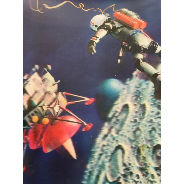 A great set of 4 W. C. Jones Publishing vivid colored lenticular astronaut pictures from 1966. Each measures approximately...