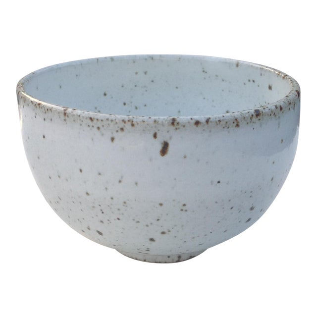 White Rustic Modern | Boho Chic Speckled Bowl | Ramen Noodle Bowl | Serving Bowl | Mixing Bowl | Decorative Bowl | II For Sale
