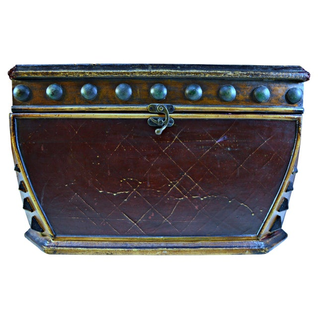 Decorative Wooden Coffer - Image 1 of 10