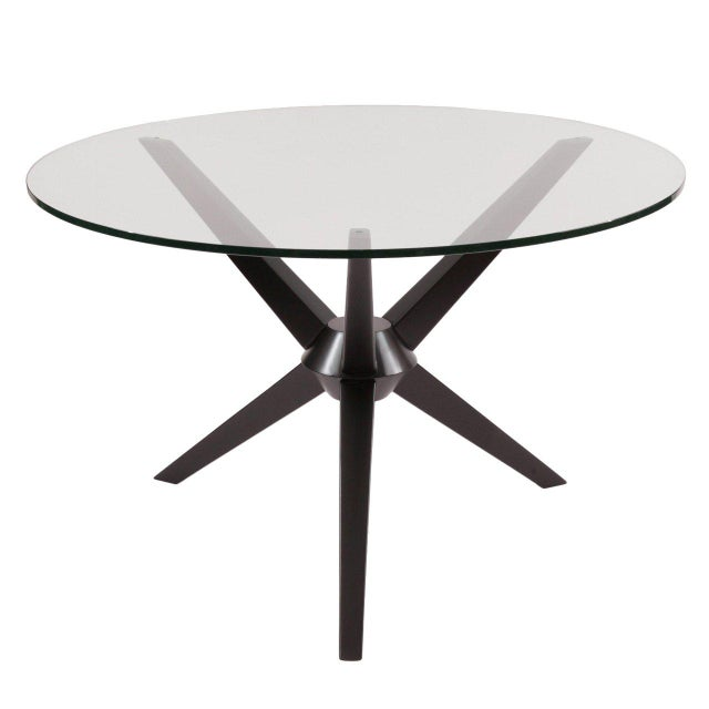 1950s Sculptural Ebonized Maple Dining Table For Sale - Image 5 of 5