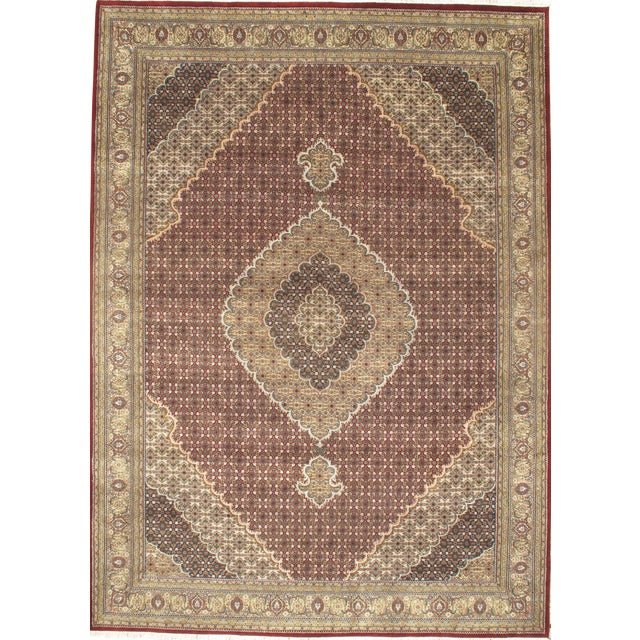 """Pasargad NY Hand-Knotted Tabriz Area Rug - 8'4"""" x 11'6"""" For Sale"""