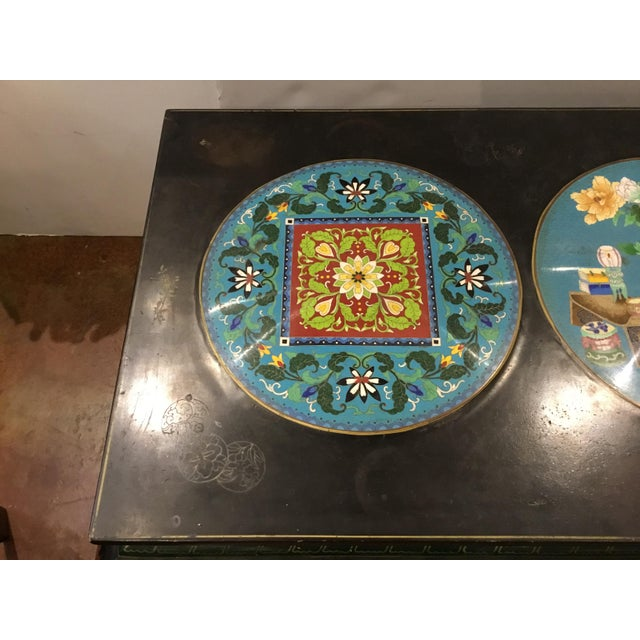 Asian Antique Asian 1920's Cliosionne Cocktail Table For Sale - Image 3 of 7