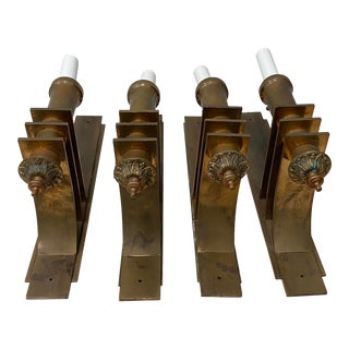 C.1920 Art Deco Copper Wall Sconces - Set of 4 For Sale
