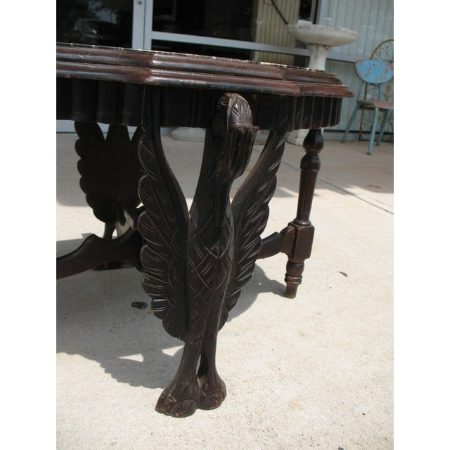 Art Deco Carved Marble Coffee Table - Image 3 of 6