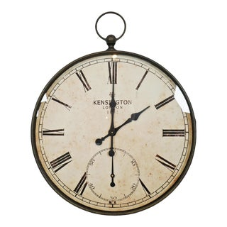 Large Stop Watch Style Wall Clock For Sale