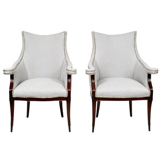 Vintage Art Deco Club Armchairs- a Pair For Sale - Image 11 of 11
