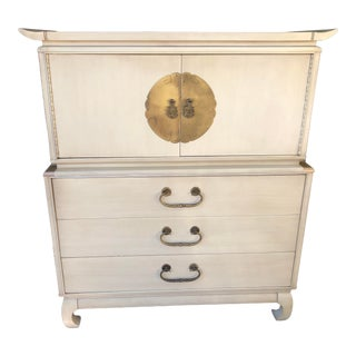 Kent-Coffey Ivory Highboy Amerasia Collection For Sale