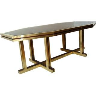 1970s Modern Maison Jansen Octagonal Dining Table For Sale