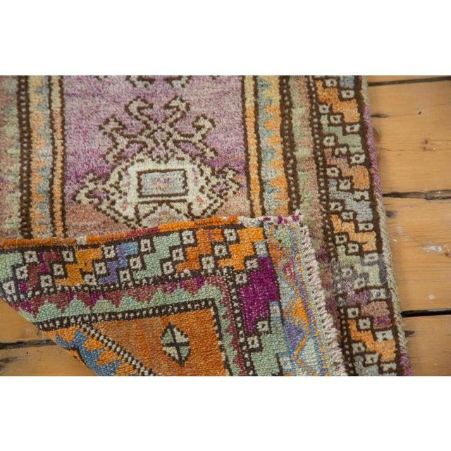 """Vintage Oushak Rug Mat Runner - 1'7"""" X 3'6"""" - Image 6 of 6"""