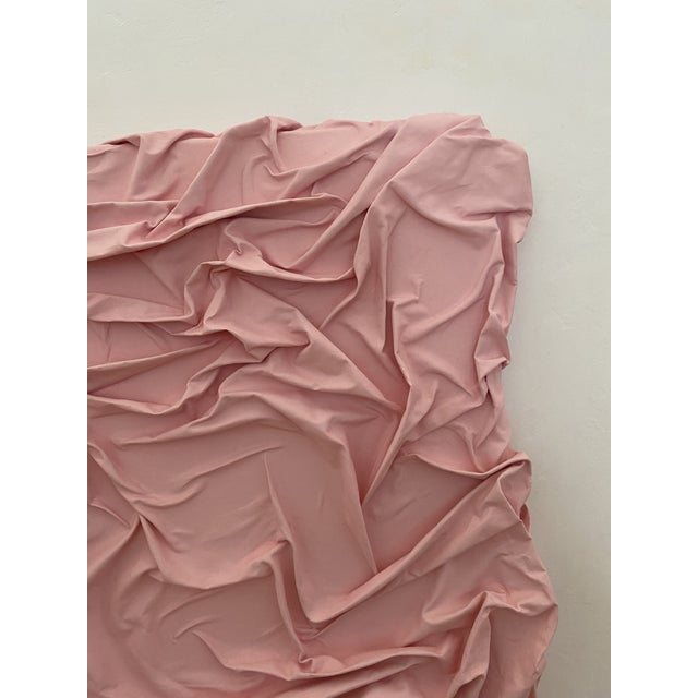 2020s Contemporary Minimalist Light Pink Abstract Textural Painting by Jordan Samuels For Sale - Image 5 of 11
