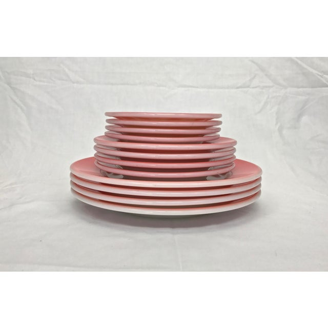 1950s Flamingo Pink Plates - Set of 12 - Image 3 of 10