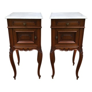 French Victorian Nightstands - a Pair For Sale