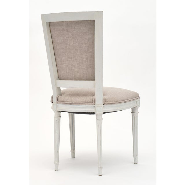 White Louis XVI Style Painted Dining Chairs - Set of 6 For Sale - Image 8 of 10
