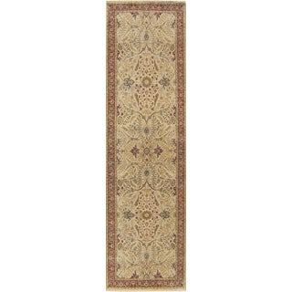 "Hand Knotted Indian Runner Rug - 3′3″ × 11'9"" For Sale"