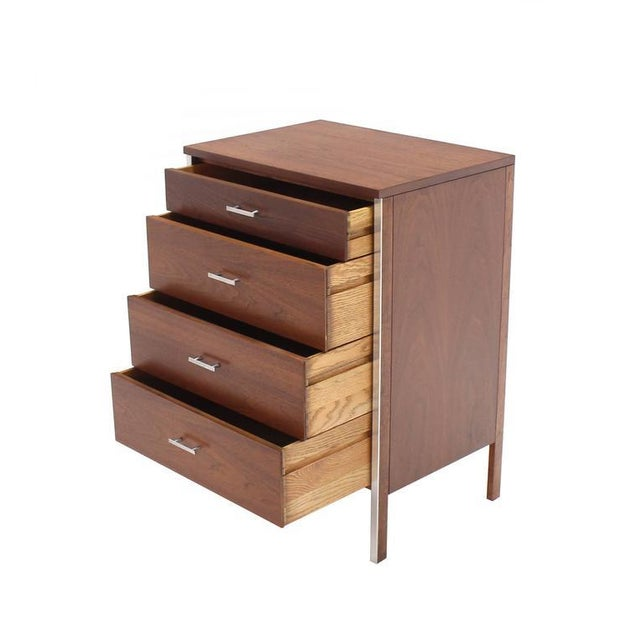 Four Drawers Small Petit Narrow Bachelor Chest For Sale In New York - Image 6 of 10