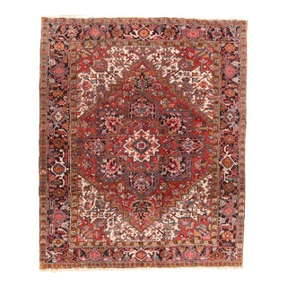 Antique Persian Red Heriz For Sale