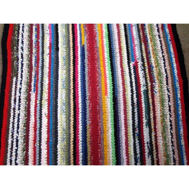 Modern Braided Rag Rug- 4′ × 20′6″ For Sale - Image 12 of 13