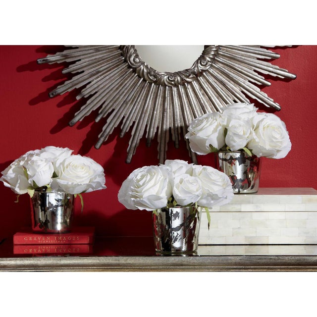 Resin Large Silver Sunburst Mirror For Sale - Image 7 of 9
