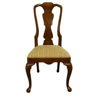 Henredon Furniture Morganton, Nc Traditional Queen Anne Style Dining Side Chair For Sale