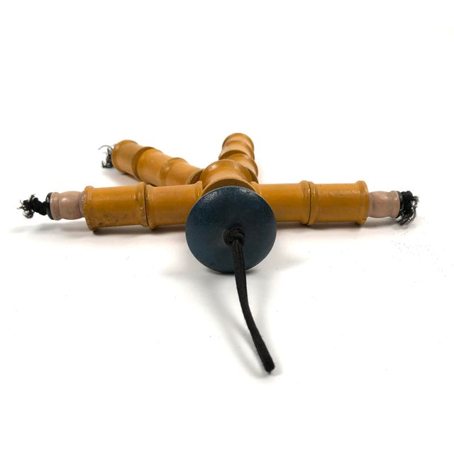 Figurative Folk Art Spool Figure of a Man For Sale - Image 3 of 9