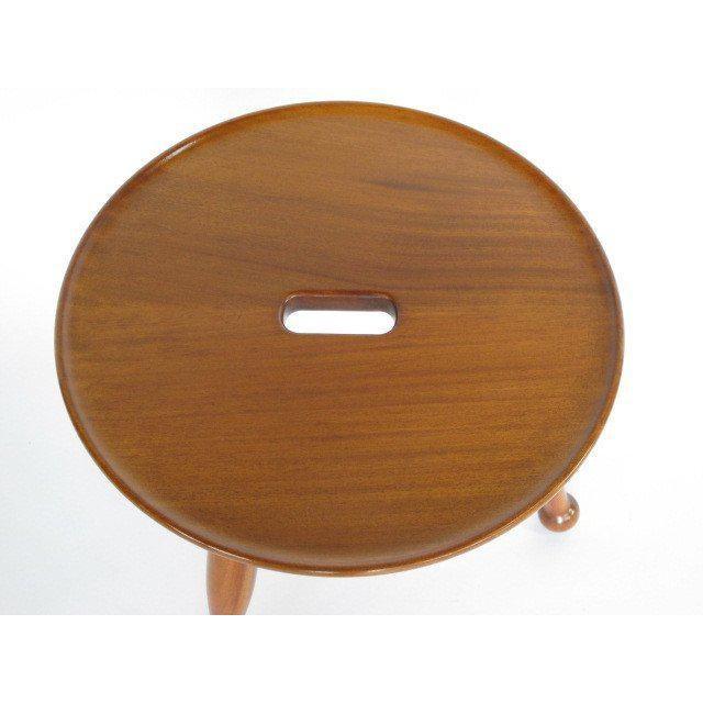A charming, three legged stool, Josef Frank for Svenskt Tenn, Sweden.