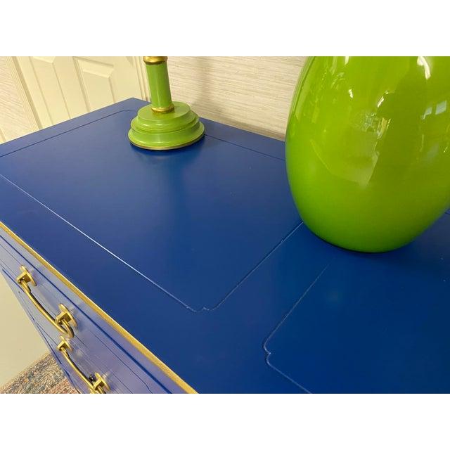 Wood Cobalt Nine Drawer Dresser For Sale - Image 7 of 11