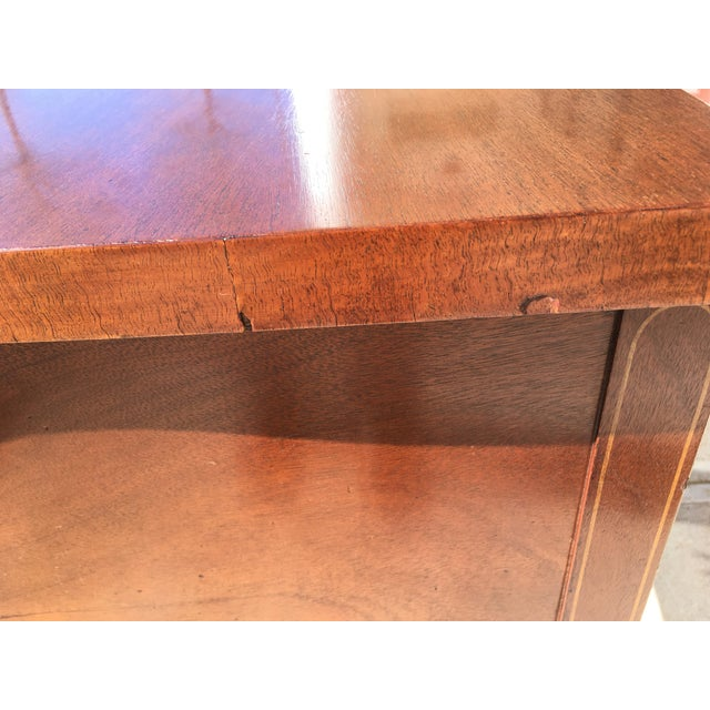 Brown Early 20th Century Mahogany Inlaid Sideboard For Sale - Image 8 of 11
