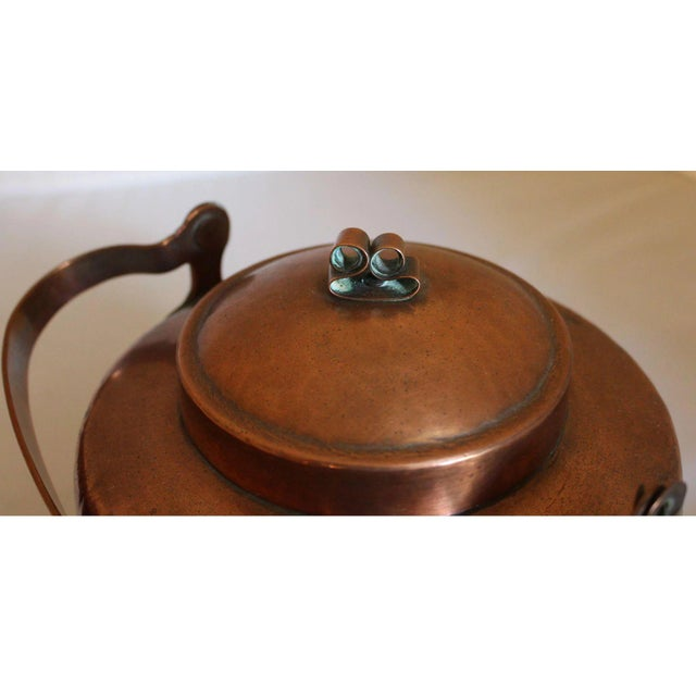Traditional Large Copper Tea Kettle For Sale - Image 3 of 9