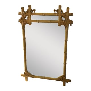 Gampel Stoll Hollywood Regency Faux Bois Wall Mirror For Sale