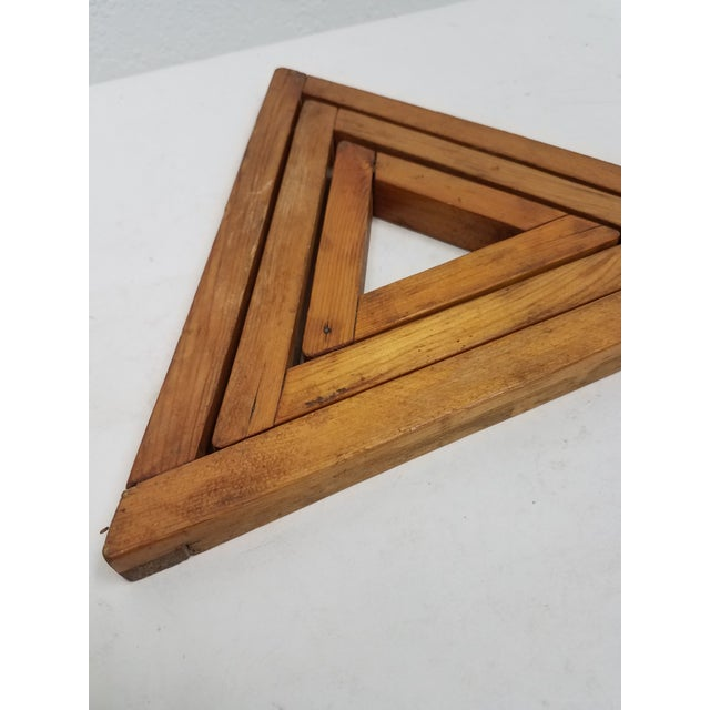 English Antique English Wooden Triangular Trivets For Sale - Image 3 of 8