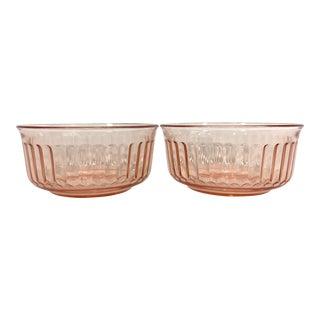 Pink Glass Fruit Bowls - Set of 2 For Sale
