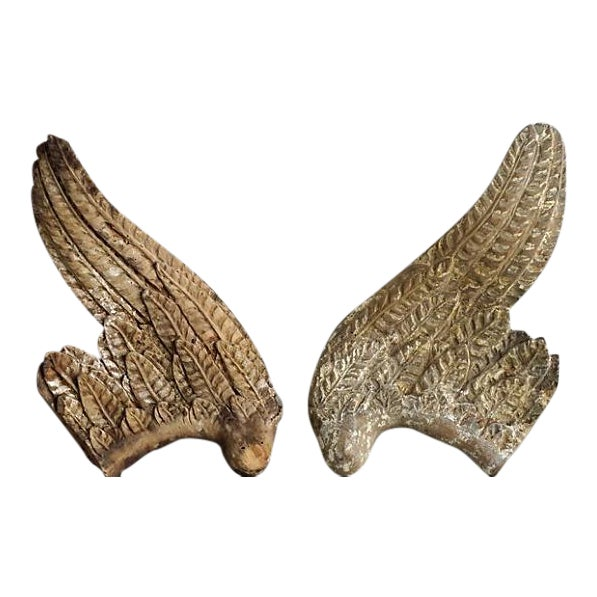 1760 French Wood Angel Wings For Sale