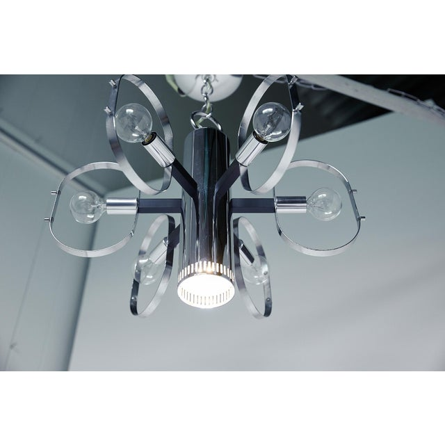 Mid-Century Modern 7-Light Chrome Fixture by Forecast Lighting For Sale In Atlanta - Image 6 of 13
