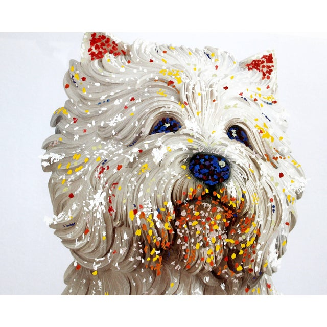 White Contemporary Jeff Koons Large Framed Dog Lithograph Signed Dated 1999 59/75 For Sale - Image 8 of 10