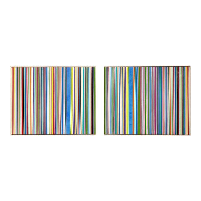 """Exclusive John O'Hara """"Sardinia, 4"""" Encaustic Paintings (2-Panel) For Sale"""