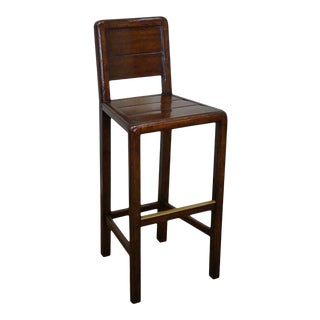 Jonathan Charles Country Farmhouse Walnut Barstool For Sale