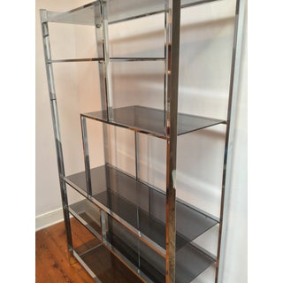 1970s Vintage Modern Chrome and Glass Etagere Preview