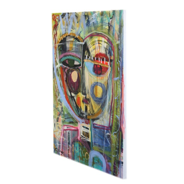"""Honey"" Original Mixed Media Artwork by Lesley Grainger For Sale In Los Angeles - Image 6 of 8"