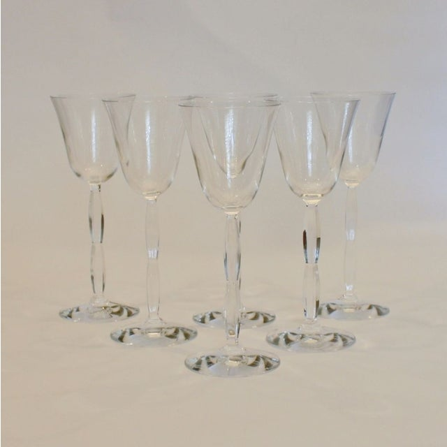 Traditional Baccarat Crystal Onde Wine Glasses - Set of 6 For Sale - Image 3 of 5