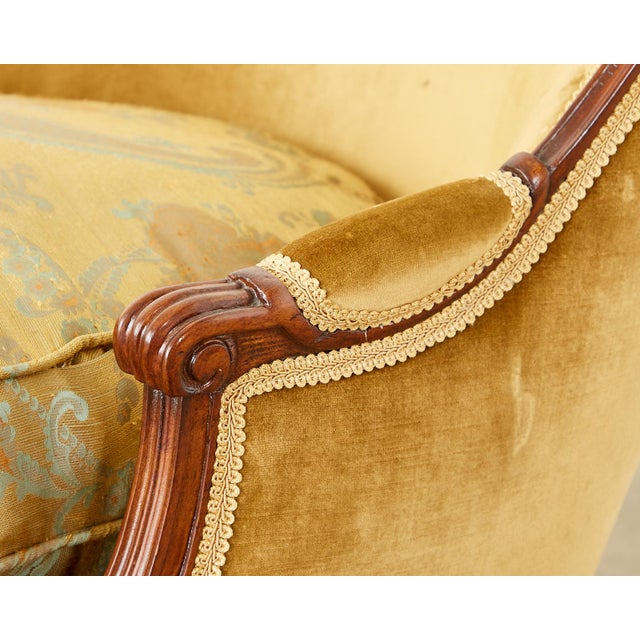 Gold French Louis XVI Style Chaise Longue Daybed For Sale - Image 8 of 13