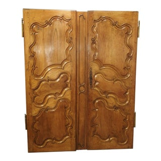 18th Century Armoire Doors-a Pair For Sale